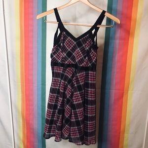 90's plaid mini dress